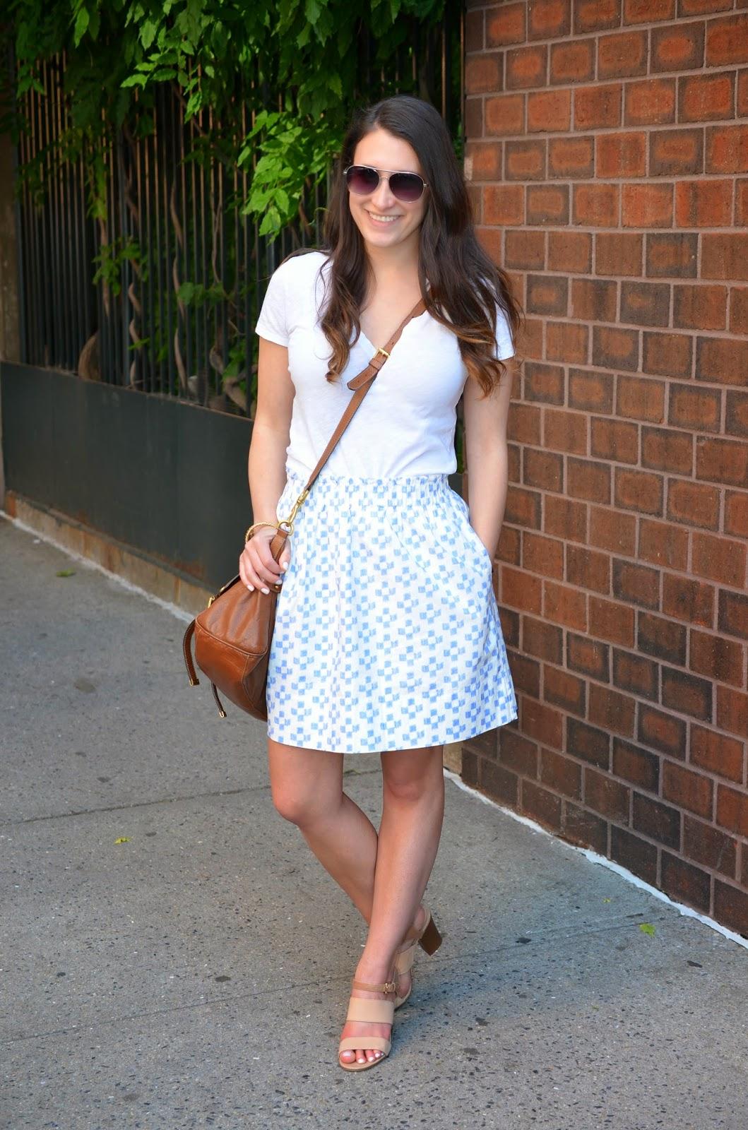 first day of summer | madewell crosshatch ikat skirt