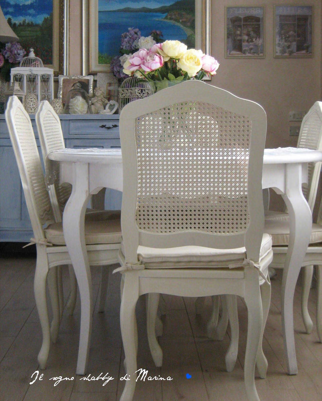 Il sogno shabby di marina the my shabby house tavolo e for Sedie shabby chic ikea