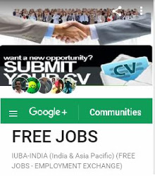 JOIN WITH (G+) FREE JOBS
