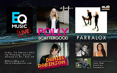 Parralox perform live in London with Polly Scattergood (Mute Records)