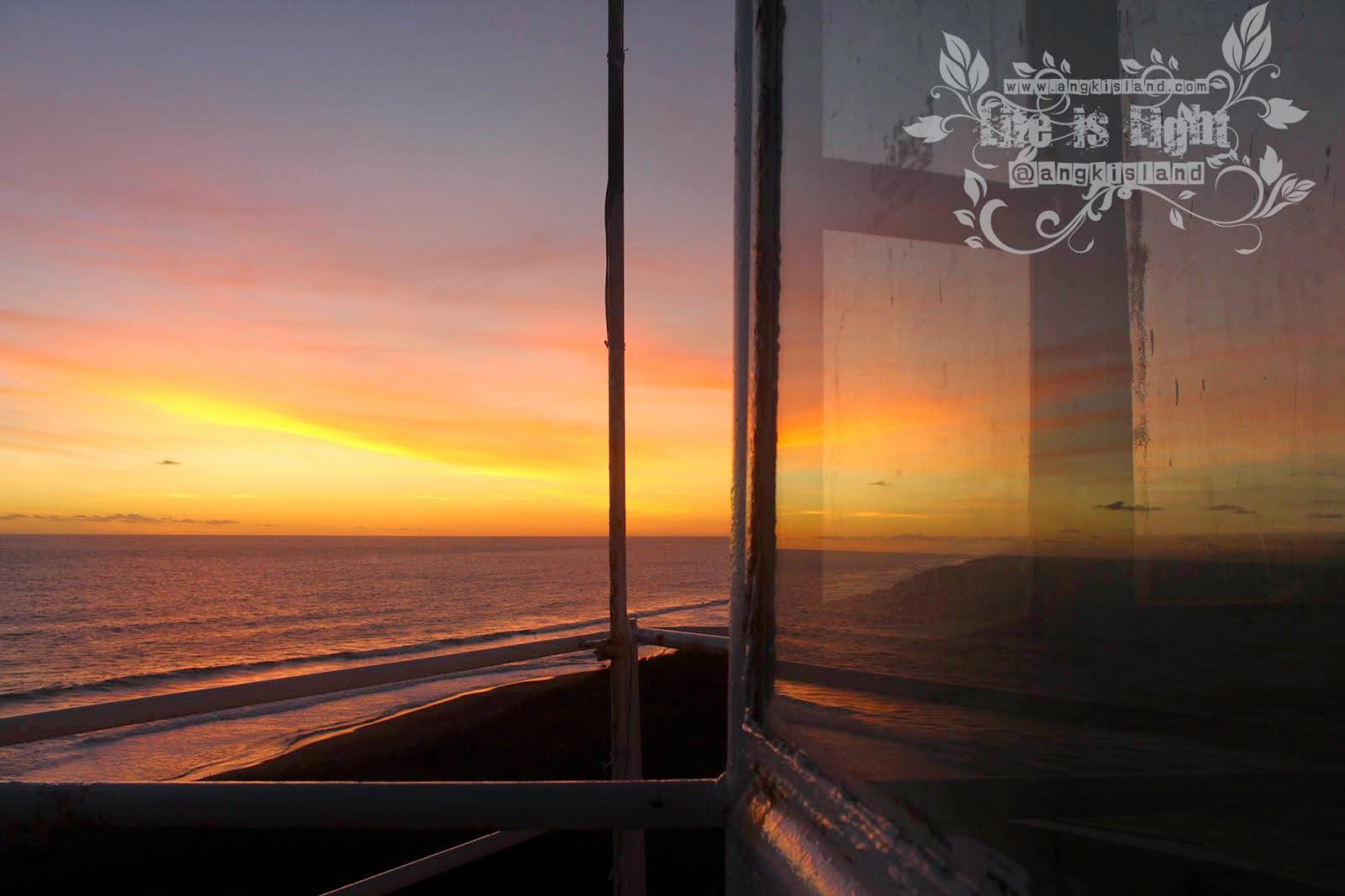 Langit sunset pantai bantul