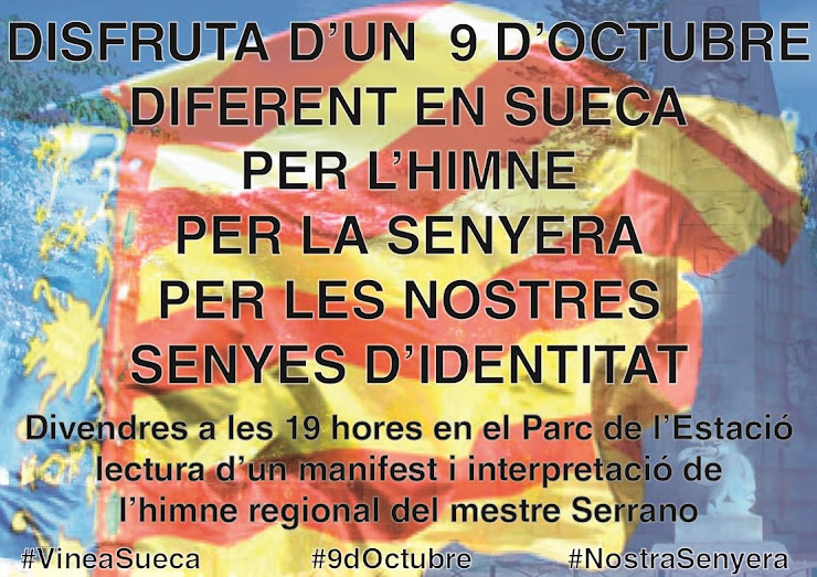 HOMENAGE AL MESTRE SERRANO EN SUECA EL 9 D'OCTUBRE