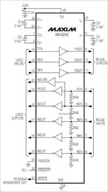 electronic circuit  max3243cai rs