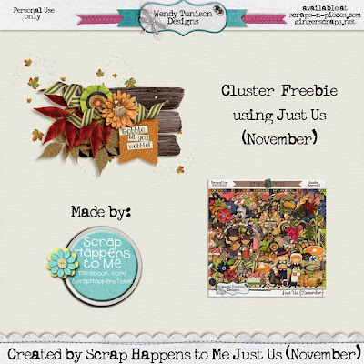 Just Us {November} by Wendy Tunison Designs...and a FREEBIE!