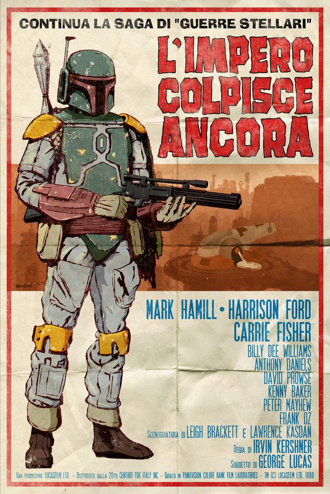 timothy anderson art: star wars spaghetti westerns