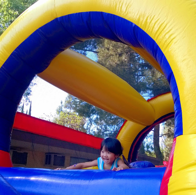 Spring Fling bouncy house