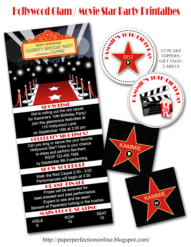 Paper Perfection: Hollywood Glam / Movie Star / Red Carpet Invitation