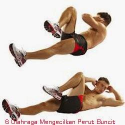 Olahraga Mengecilkan Perut Vertical Leg Crunch