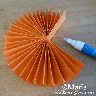 DIY handmade decor in pumpkin orange ideal for the Fall season