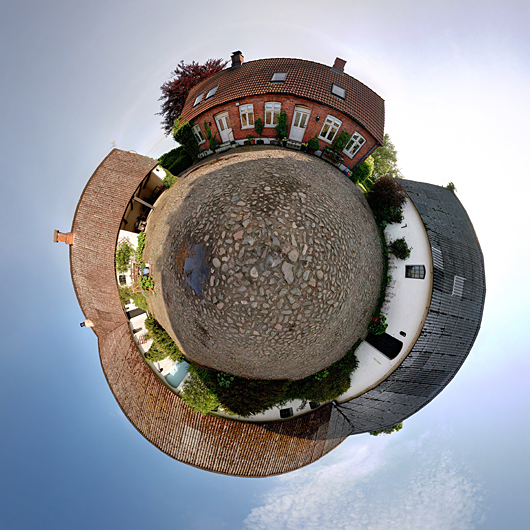 panoramic image wrapped as small planet
