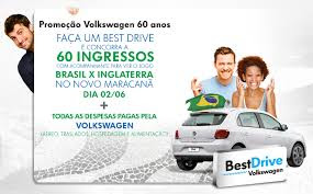 Como faço para participar da promoção Volkswagen ganhar ingressos jogo brasil