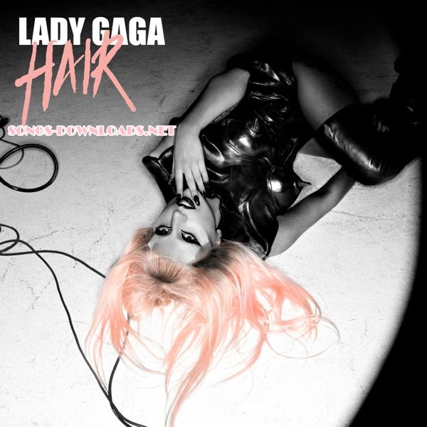 lady gaga hair single art. lady gaga hair album cover.