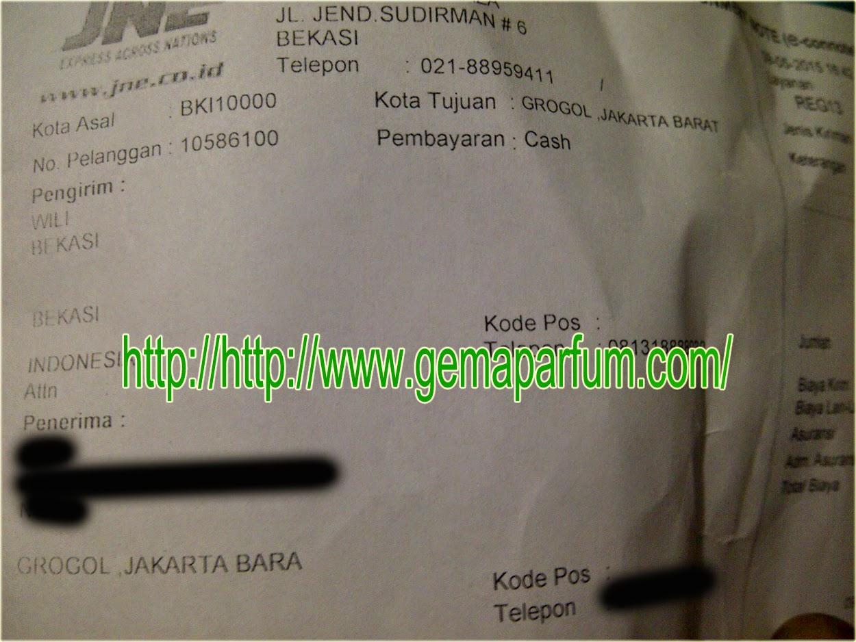 Pengiriman Parfum ke Jakarta