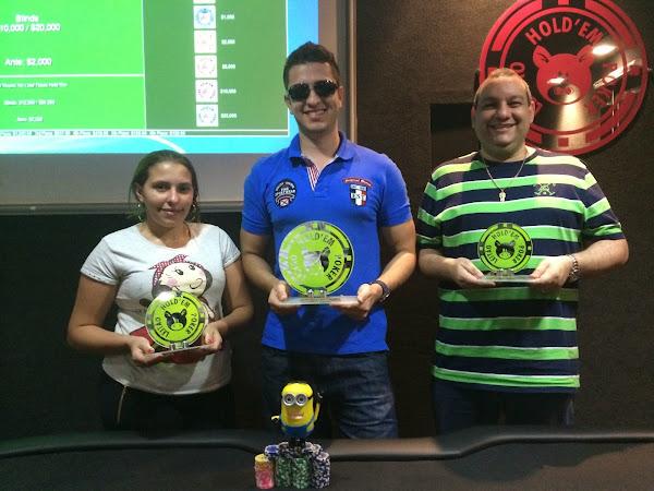 CAMPEÃO , VICE E 3º LUGAR 5K LEITÃO HOLD'EM (30/08/2014)