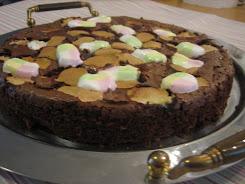 Gluten-free marshmallow mud cake