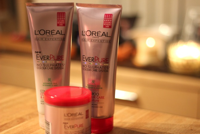 L'Oreal EverPure shampoo and conditioner