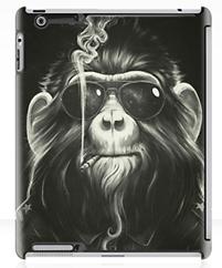 ipad cover of Monkey smoking