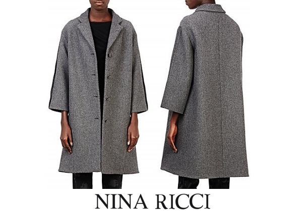Queen Letizia's NINA RICCI Swing Coat