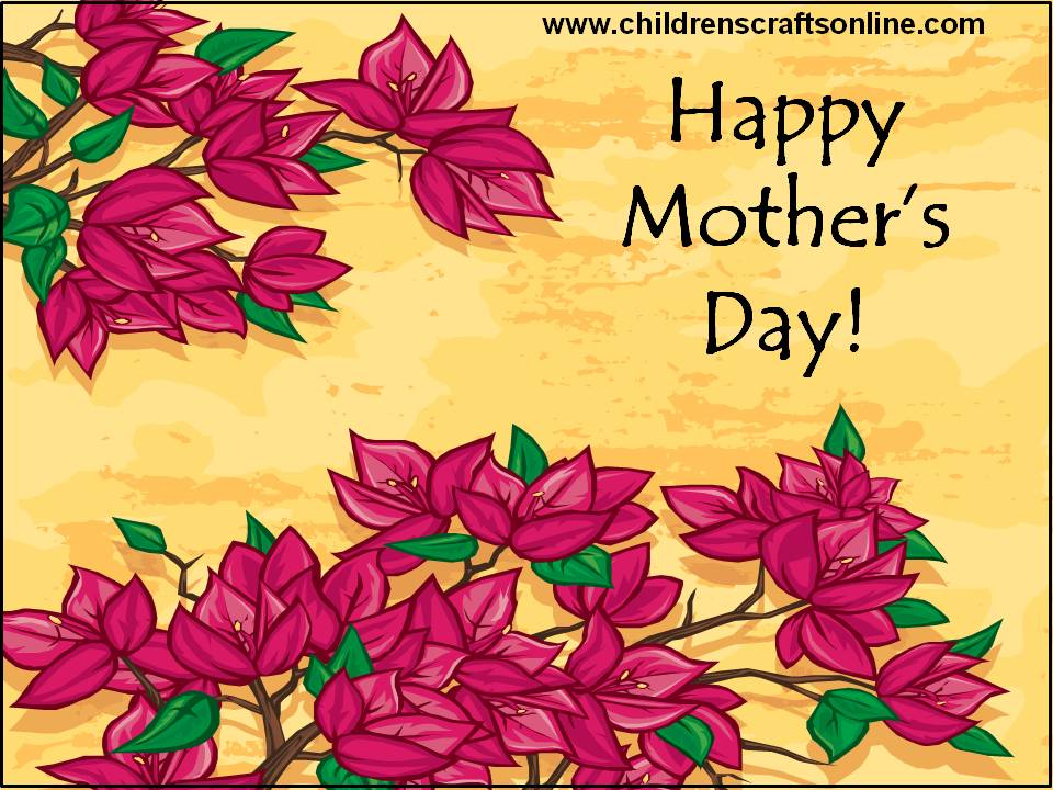 ... and Crafts for Children: Printable mothers day cards for kids to make