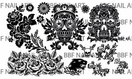 Lacquer Lockdown - Loja BBF, nail art stamping blog, nail art stamping plates, lace, beauty and the beast,, sleeping beauty, malificent, sugar skulls, nail art, stamping, tattoos, roses, stained glass, new nail art stamping plates 2015, new nail art image plates 2015, diy nail art, cute nail art ideas, panthers