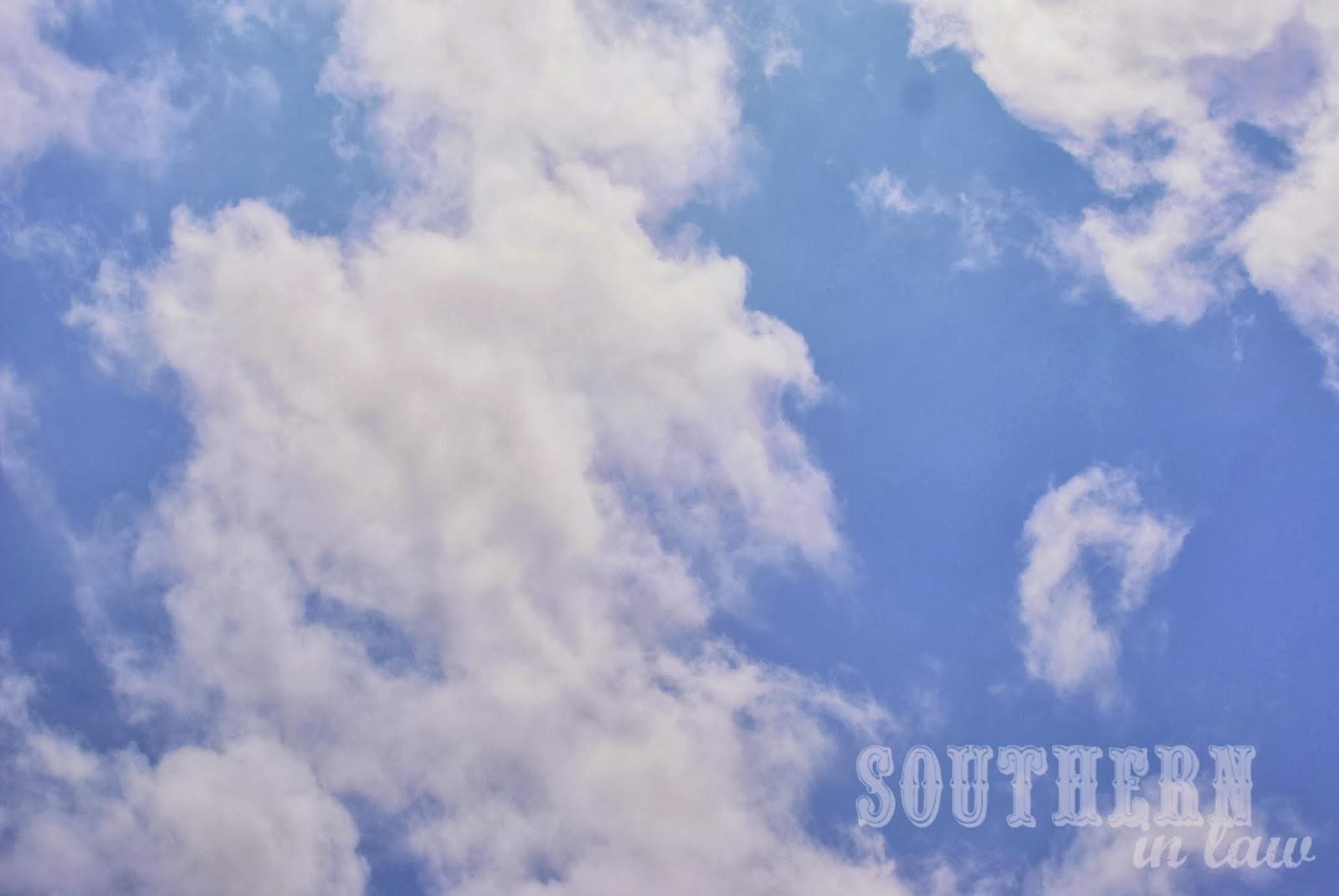 Blue skies in Sydney