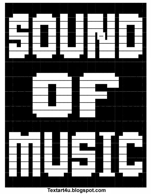 One Line Ascii Art For Texting : Sound of music copy paste ascii text art cool