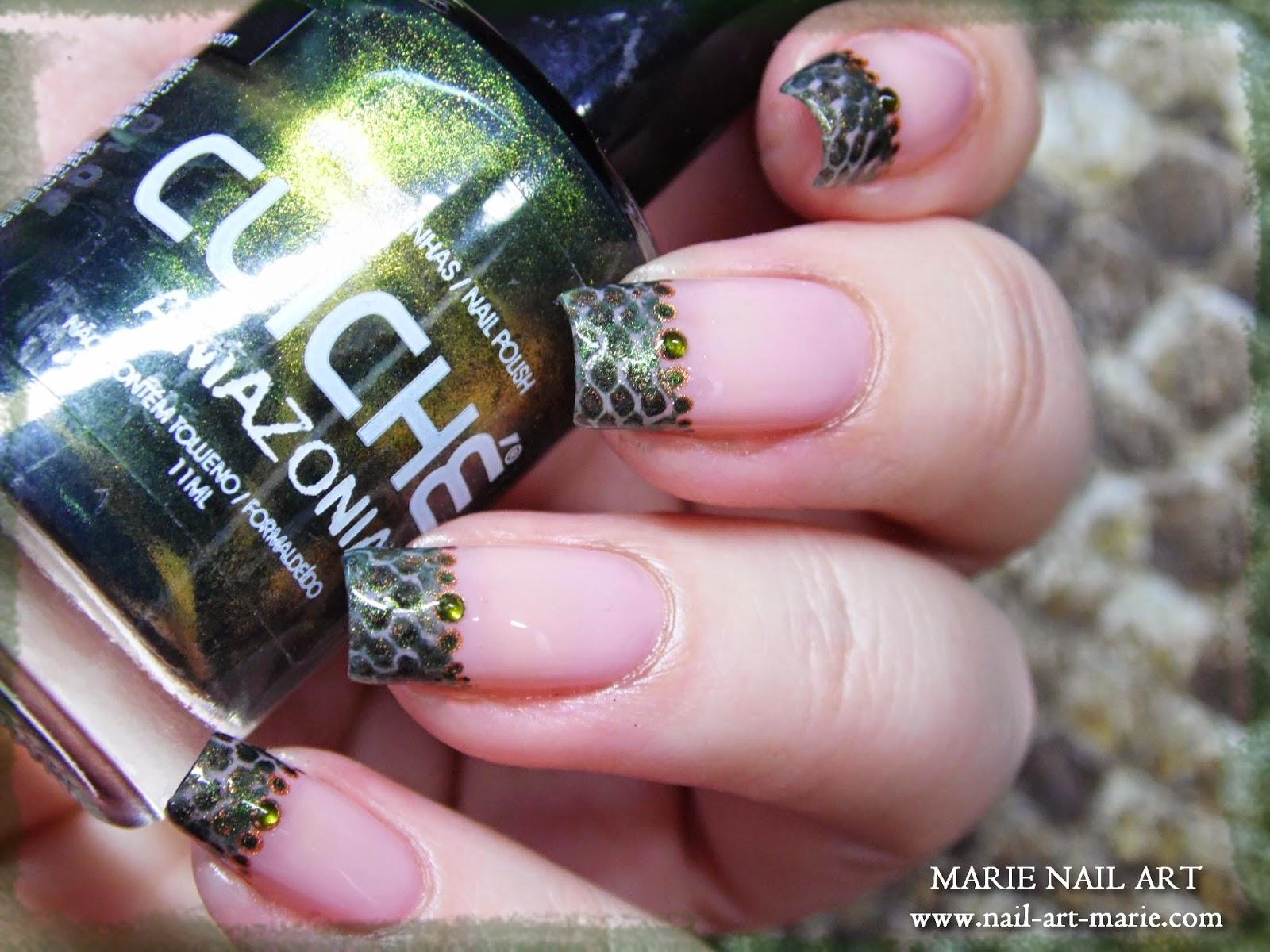 nail art effet peau de serpent12