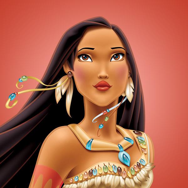 Invitación de Cumpleaños de Pocahontas