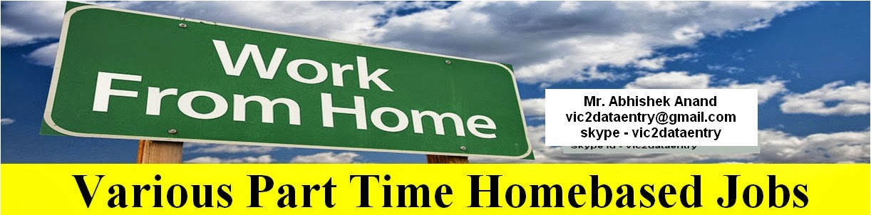 Various Part Time Homebased Jobs