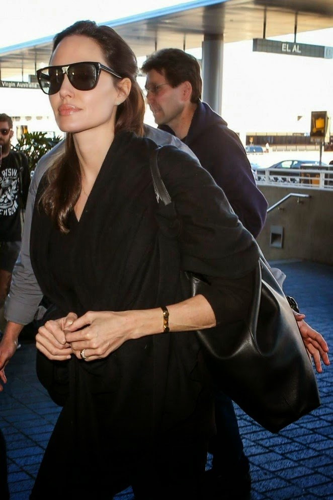 Actress, Director, Writer, Producer: Angelina Jolie Spotted At Los Angeles International Airport