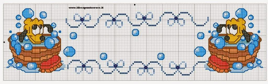 Hobby lavori femminili ricamo uncinetto maglia for Punto croce bagnetto