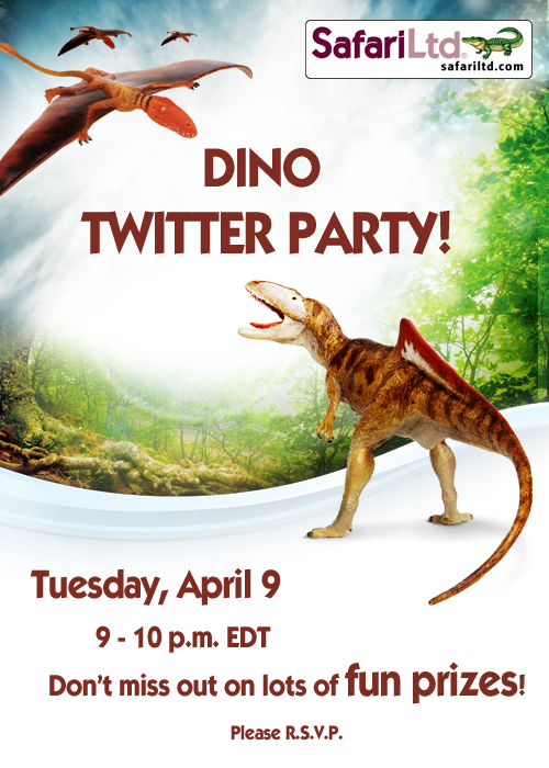 Safari Ltd. Dinos, twitter party, giveaway