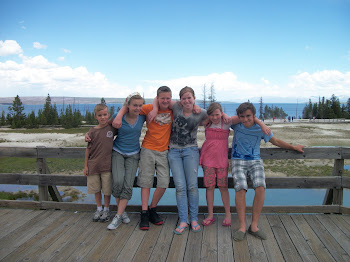 Cousins in Yellowstone Park