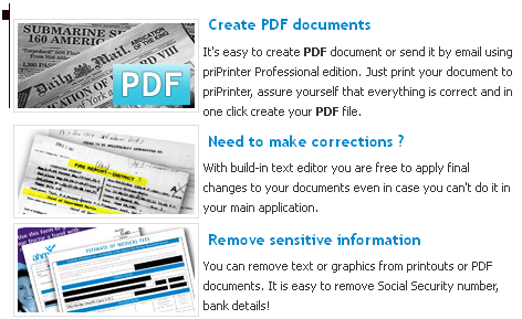 converter PDF, make corrections, remove information