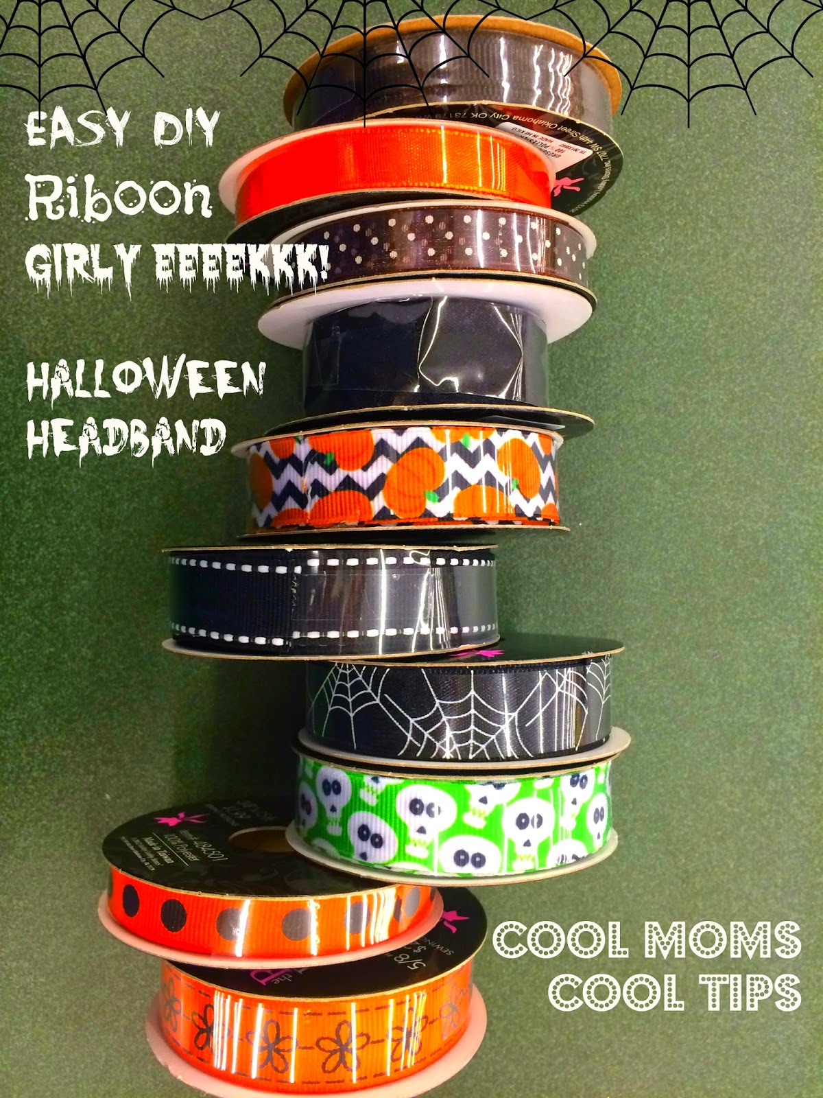 cool moms cool tips halloween headband for girls ribbon DIY