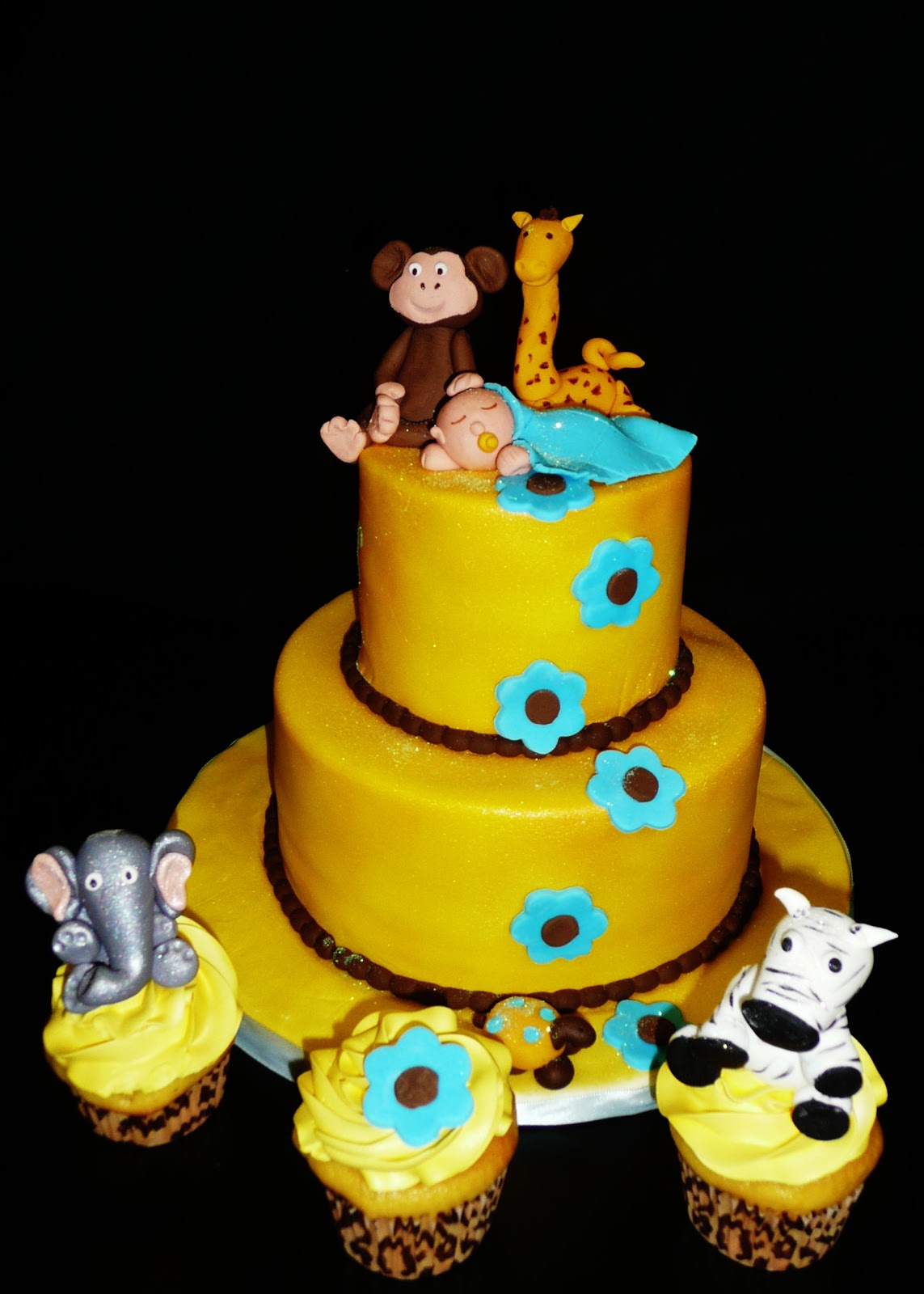 baking with roxana 39 s cakes jungle themed baby shower cake