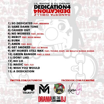 tracklist de dedication 4