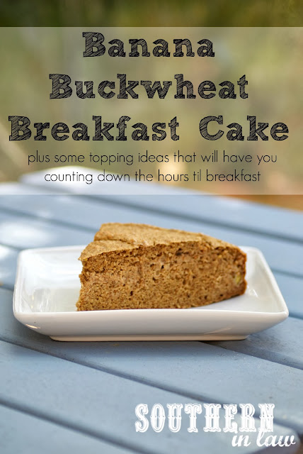 Banana Buckwheat Breakfast Cake with Low Fat Cream Cheese Frosting Recipe - Gluten Free, Vegan, Healthy