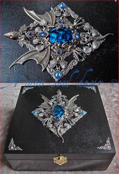 Boite Bijoux Coffret Dragon Médiéval Targaryen Game of Thrones Bijouterie