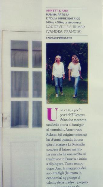 Casa Facile - artykuł o Mamie i córce oraz o pięknych wnętrzach ich domu