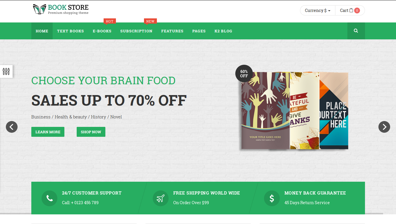bookstore joomla ecommerce template | angularjs, Powerpoint templates