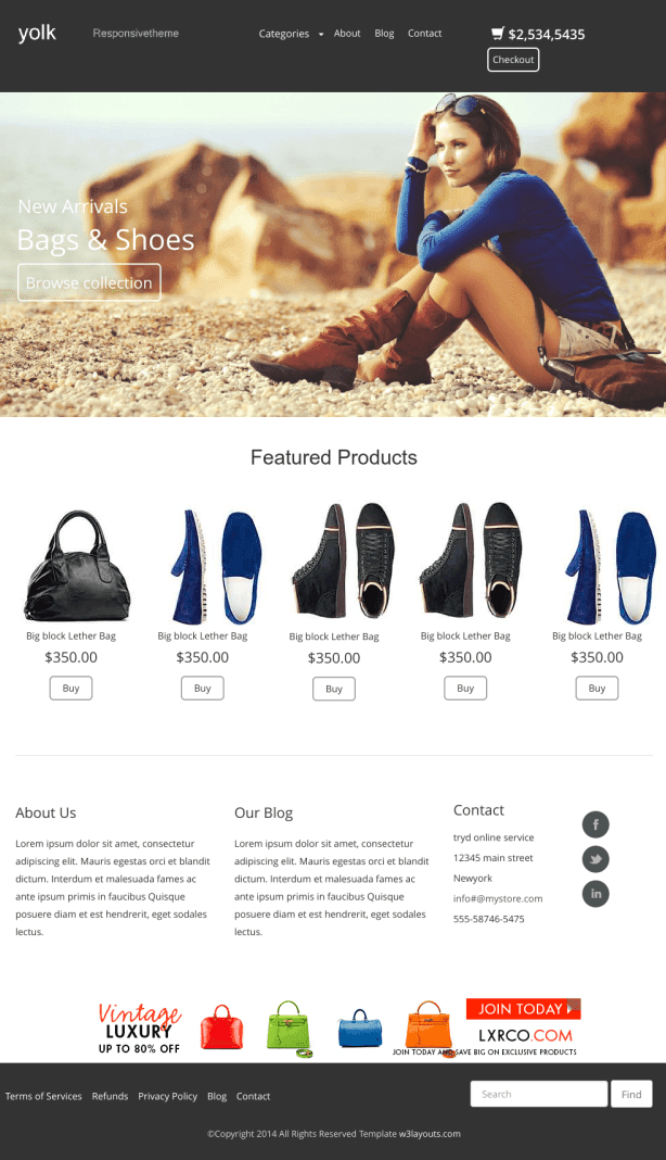 15 free ecommerce html5 css3 website templates