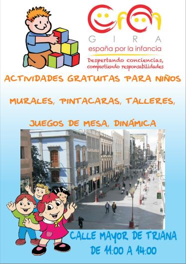 Movimiento España por la Infancia  calle Triana,  Las Palmas de Gran Canaria