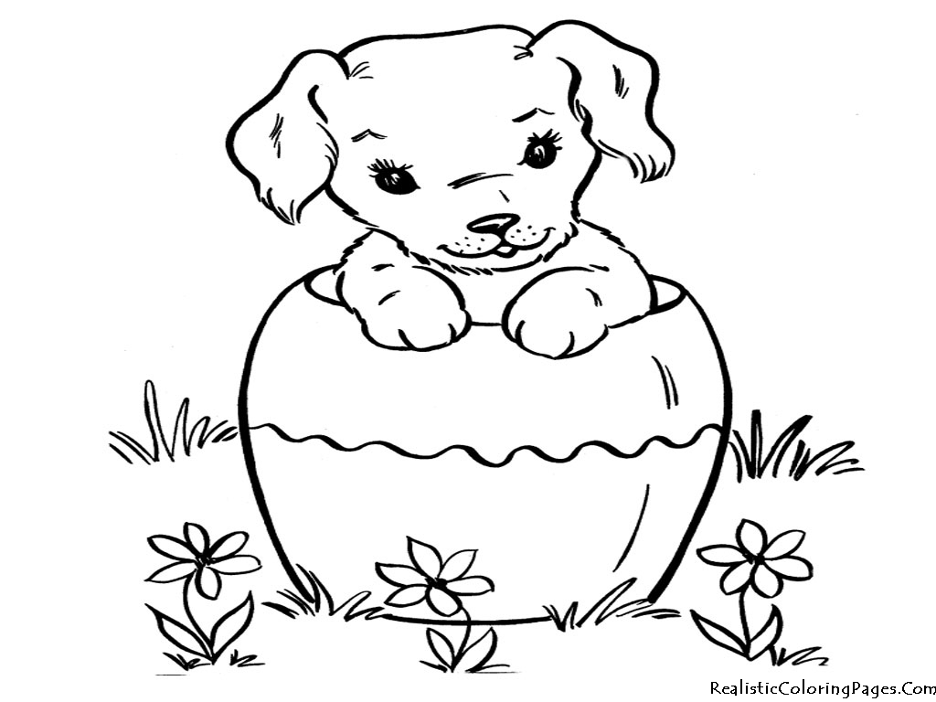 coloring pages of dog - photo#13