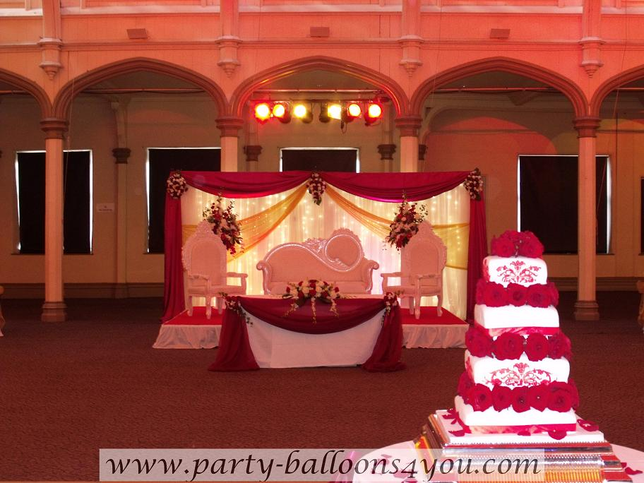 Party balloons 4 you for Asian wedding decoration