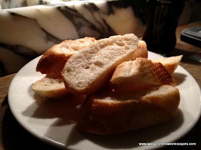 Complimentary Italian bread
