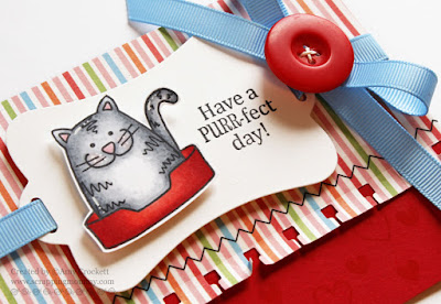 SRM Stickers Blog - The Purr-fect Card for the Purr-fect Day! by Amy - #card #clearstamps #janesdoodles #acatslife #stickerstitches