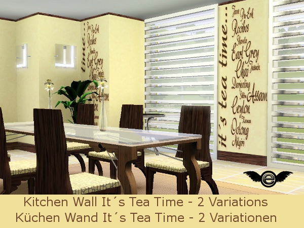 Engelchen k chen tapete it s tea time kitchen wall it s for Kuchen tapeten ideen