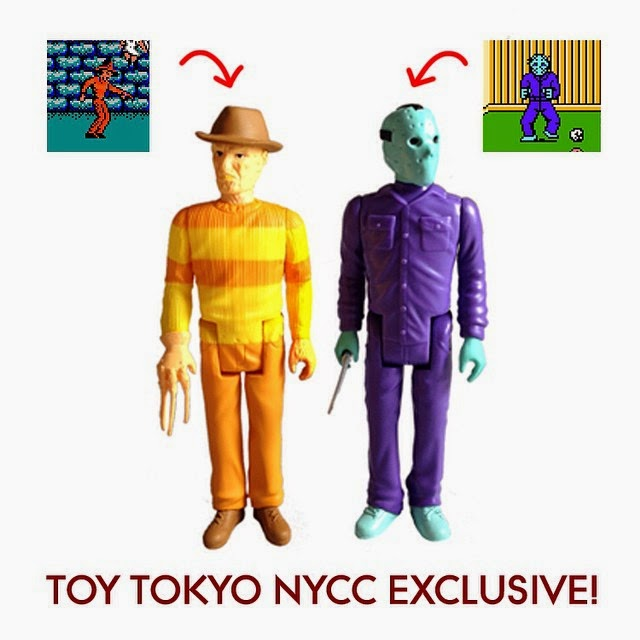 New York Comic Con 2014 Exclusive 8-Bit Edition Freddy Krueger and Jason Voorhees ReAction Retro Action Figures by Funko & Super7