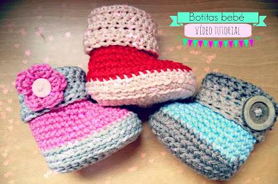 BOTITAS DE BEBE PASO A PASO A CROCHET CON VIDEO GRATIS -  Crochet baby booties